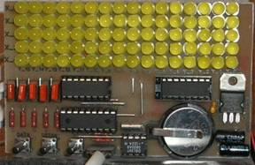 Схема состоит из следующих компонентов. матрица 5х16.