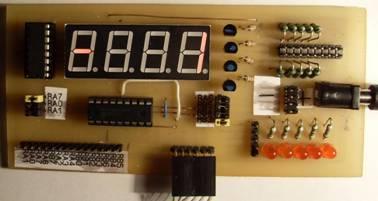 Eselit.com : Схемы : Микроконтроллеры : Отладочная плата для микроконтроллеров PIC.